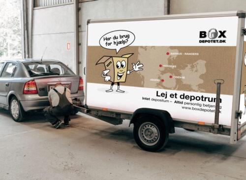 Lån en trailer ved Boxdepotet